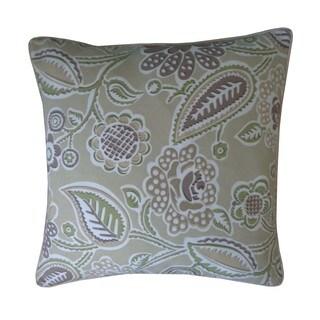 Lavenderia Brown Floral 20x20-inch Pillow