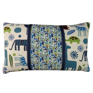 Pieces Blue Crayola Cheerful Hippo Blue Kids Animal Print 12x20-inch Pillow
