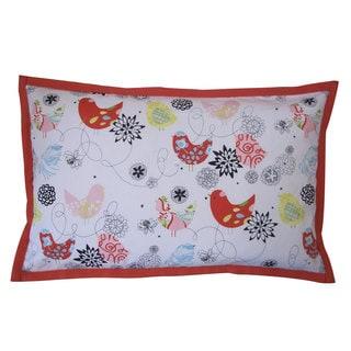 Songbird Orange Kids Animal Print 12x20-inch Pillow