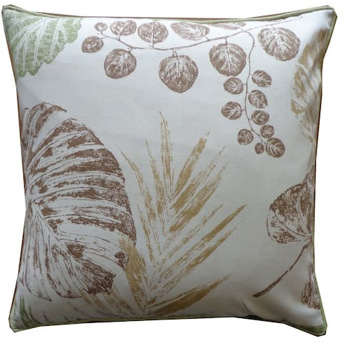 Fall Brown Floral 20x20-inch Pillow - 20 x 20