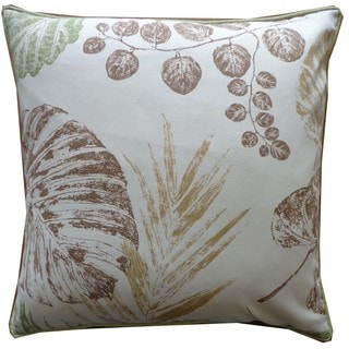 Fall Brown Floral 20x20-inch Pillow