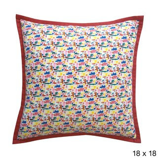 Red Crayola Kids Abstract 20x20-inch Pillow
