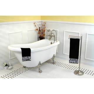 black and white clawfoot tub. Vintage Collection 67 inch Acrylic Slipper Clawfoot Tub Claw Foot Tubs For Less  Overstock com