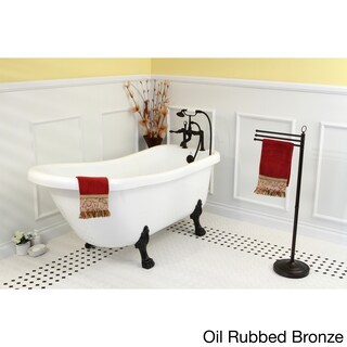 Vintage Collection 67-inch Acrylic Slipper Clawfoot Tub (Option: white/oil rubbed bronze)