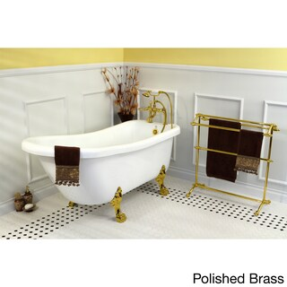 Vintage Collection 67-inch Acrylic Slipper Clawfoot Tub (Option: white/polished brass)