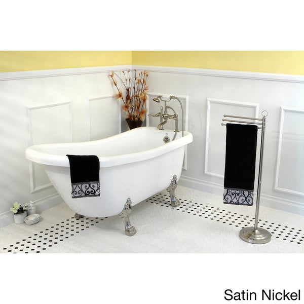 Vintage collection 67 inch acrylic slipper clawfoot tub for Acrylic clawfoot tub reviews