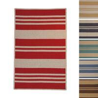 Sunbrella Stripe Indoor/Outdoor Performance Braided Rug USA MADE - 5' x 7'