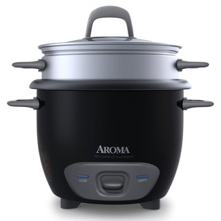 Aroma Black 6-cup Rice Cooker