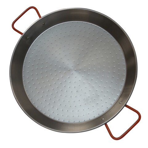 IMUSA CAR-52031T 15-inch Red Non-coated Aluminized Carbon Steel Paella Pan