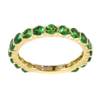 Sonia Bitton 14k Yellow Gold Green Tsavorite Semi-eternity Ring