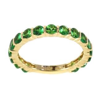 Sonia Bitton 14k Yellow Gold Green Tsavorite Semi-eternity Ring
