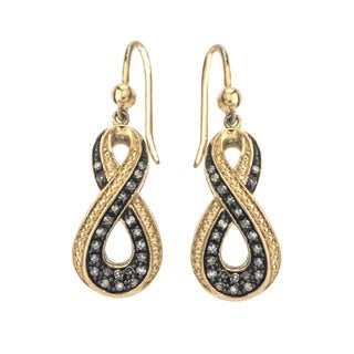 Sterling Silver 1/3ct TDW Champagne Diamond Earring By Ever One