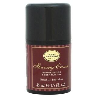The Art of Shaving for Men Sandalwood 1.5-ounce Pump Shaving Cream