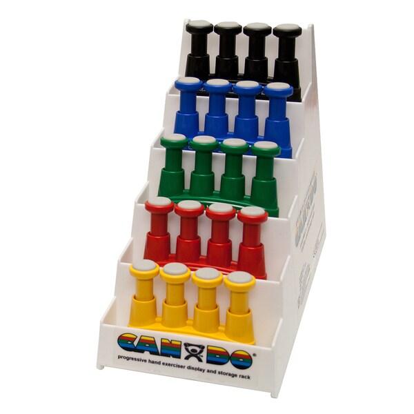 Cando Via Hand Exerciser with Plastic Rack (Set of 5)