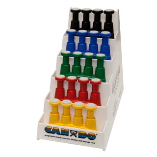 Cando Via Hand Exerciser with Plastic Rack (Set of 5)