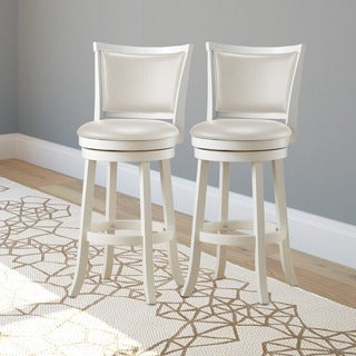 CorLiving DWG-119-B Woodgrove 43-inch White Wash Wood Barstool (Set of 2)