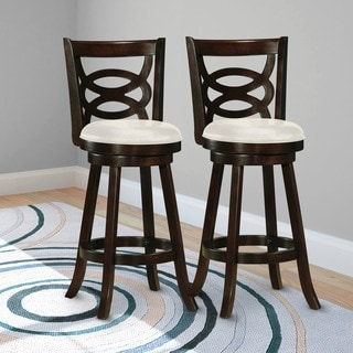 CorLiving DWG-819-B Woodgrove 43-inch Cappuccino Wood Barstool (Set of 2)