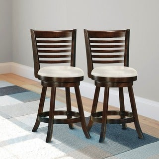 CorLiving DWG-914-B Woodgrove 38-inch Cappuccino Wood Barstool (Set of 2)