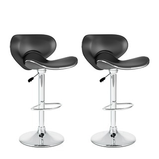 CorLiving Curved Form Fitting Adjustable Barstools (Set of 2)