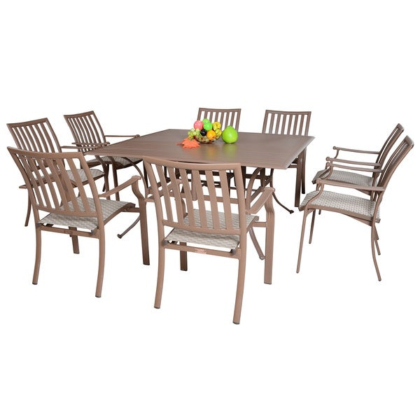 panama jack island breeze 9piece slatted dining group