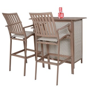 Panama Jack Island Breeze 3-piece Slatted Bar Set
