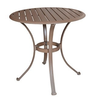 Panama Jack Island Breeze Slatted Aluminum 30-inch Bistro Dining Table