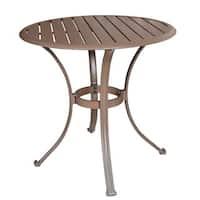 Panama Jack Island Breeze Slatted Aluminum 30-inch Bistro Dining Table
