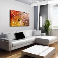 'Striking' 28x42 Canvas Wall Art - Brown