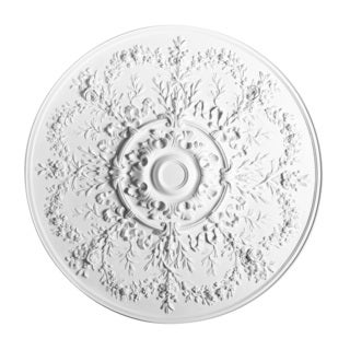 37-inch Round Floral Ceiling Medallion
