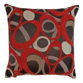 Sherry Kline 20-inch Oh Red Decorative Feather and Down Filled Throw Pillow