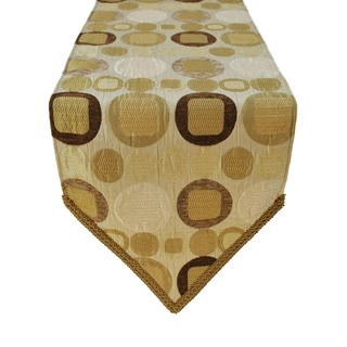 Sherry Kline Metro Taupe Table Runner