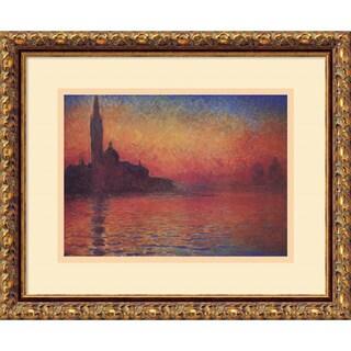Framed Art Print 'Dusk, Sunset in Venice, 1908' by Claude Monet 20 x 17-inch