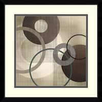 Framed Art Print 'Hoops 'n' Loops I' by Tandi Venter 17 x 17-inch