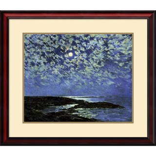 Frederick Childe Hassam 'Moonlight, Isle of Shoals 1892' Framed Art Print 31 x 27-inch