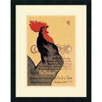 Framed Art Print 'Cocorico, 1899' by Theophile Alexandre Steinlen 20 x 26-inch