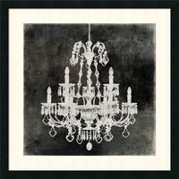 Framed Art Print 'Chandelier II' by Oliver Jeffries 26 x 26-inch