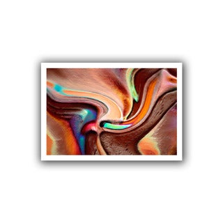 Dean Uhlinger 'Confluence' Unwrapped Canvas
