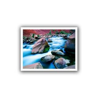 Dean Uhlinger 'Virgin River Dusk Zion' Unwrapped Canvas