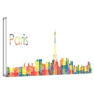 Revolver Ocelot 'Paris' Gallery-wrapped Canvas