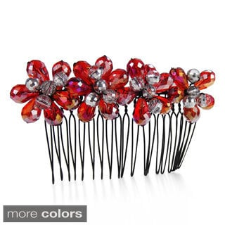 Handmade Exquisite Floral Bouquet Sparkling Crystals Hair Comb (Thailand)