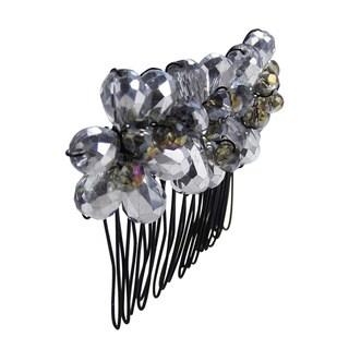 Exquisite Floral Bouquet Sparkling Crystals Hair Comb (Thailand)