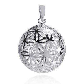 Flower of Life Kabbalah 3D Ball Sterling Silver Pendant (Thailand)