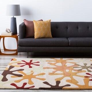 Hand-tufted Jaxx Round Wool Area Rug (9'9x 9'9)