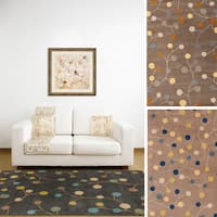 Hand-tufted Gum Drop Floral Wool Area Rug (9' x 12')