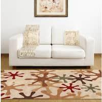Hand-tufted Jaxx Wool Area Rug (7'6 x 9'6)