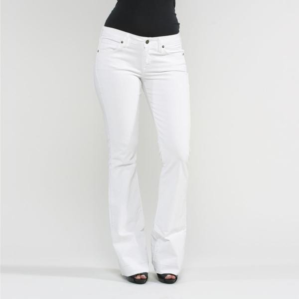 Rich & Skinny Women's Dottie Flare Jeans in White - Free Shipping ...