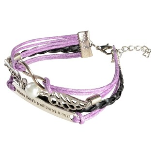 Zodaca Colorful Multistring Leather Bracelet with Silver/ Bronze Alloy Charms (More options available)
