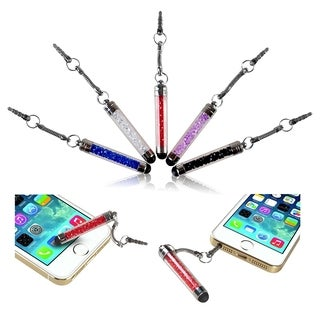 INSTEN Universal Crystal Mini Stylus with Dust Cap for Apple iPhone 4S/ 5S/ 6 (Pack of 5)|https://ak1.ostkcdn.com/images/products/9181308/P16356167.jpg?_ostk_perf_=percv&impolicy=medium