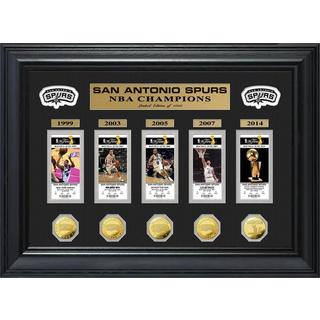 NBA San Antonio Spurs 5-time Champions Deluxe Gold Game Coin and Ticket Collection|https://ak1.ostkcdn.com/images/products/9181336/P16356192.jpg?_ostk_perf_=percv&impolicy=medium