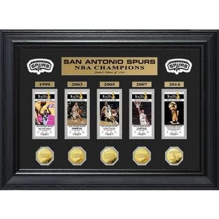NBA San Antonio Spurs 5-time Champions Deluxe Gold Game Coin and Ticket Collection|https://ak1.ostkcdn.com/images/products/9181336/P16356192.jpg?impolicy=medium